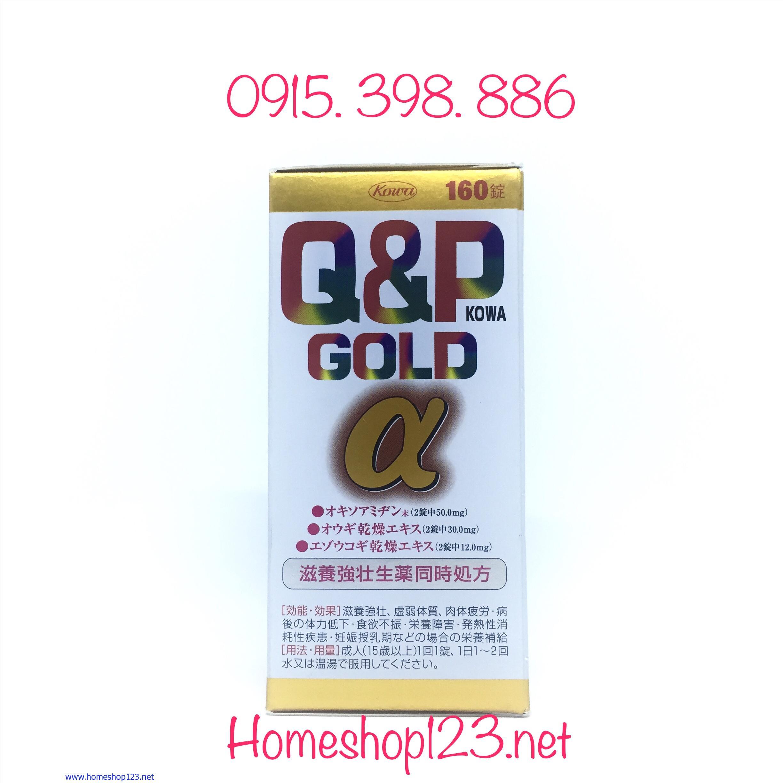 Q&P Gold α 160 viên - Bổ sung vitamin chống suy nhược, tăng đề kháng