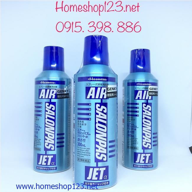 Chai xịt giảm đau khớp Air Salonpas Jet 300ml của hãng Hisamitsu
