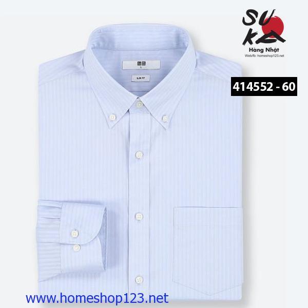 Áo sơ mi Nam Nhật Bản Uniqlo 414552 - 60 Blue