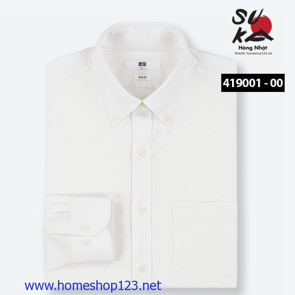 Áo sơ mi Nam Nhật Bản Uniqlo 419001-00 White