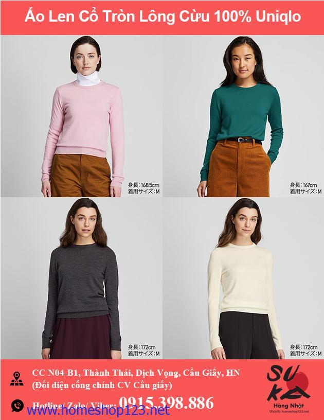 Áo len Nữ lông cừu 100% Uniqlo - 418668