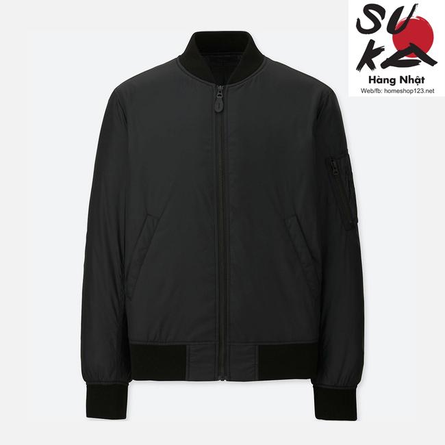 áo khoác bomber nam nhật bản uniqlo