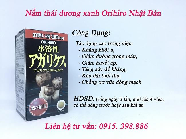 công dụng nấm orihiro