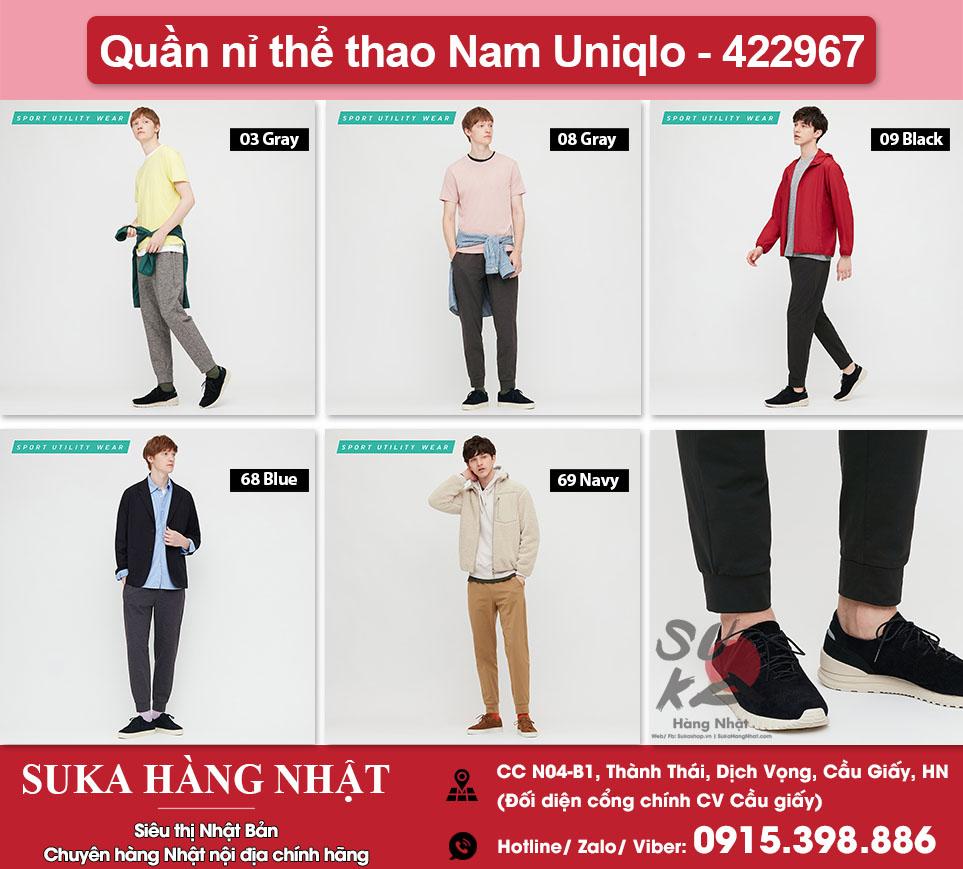 Quần nỉ thể thao Nam Uniqlo - 422967